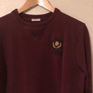 Men's Abercrombie burgundy muscle long sleeve tee